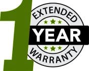 1 Year extended warranty logo