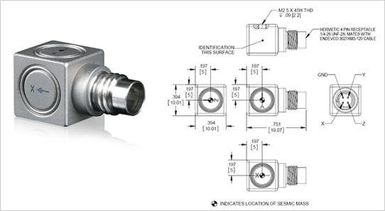 65 High temp IEPE accelerometer
